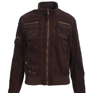 Jackets & Blazers - Brown Corduroy Bomber Jacket